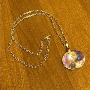NWOT! Fairy iridescent pendant and necklace!